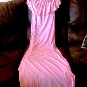 Pink martenity photoshoot dress